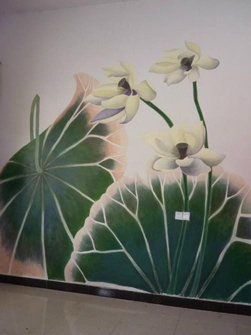 弦月美术手绘墙作品展 商家风采