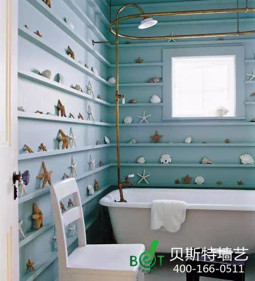 硅藻泥装修效果图-家居家装 夏季装修 墙面巧配色打造清凉家居 成就